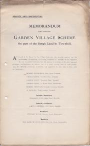 Memorandum regarding Garden Village Scheme