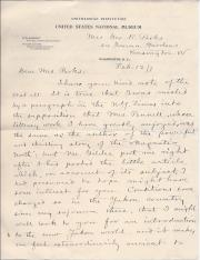 Autograph Letter Signed  Wm. H. Dall, naturalist and explorer