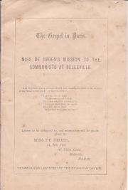 Miss de Broen's Mission to the Communists at Belleville.