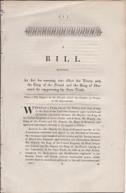 Denmark Slave Treaty. A Bill