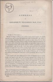 Address of Alexander W. Williamson, President