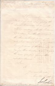 Letter, in the hand of a secretary, signed ('J W Croker') by John Wilson Croker