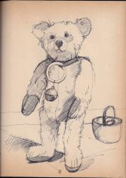 An album of strikingly original illustrations of teddy bears