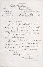 Autograph Letter Signed from 'R. A. Bennet', editor of 'Truth',