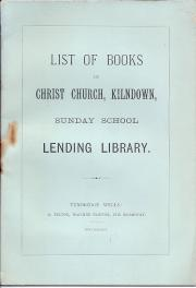 List of Books in Christ Church, Kilndown, Sunday School Lending Library.