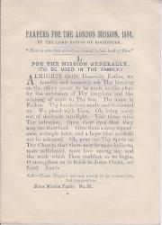 Prayers for the London Mission, 1884, Home Mission Tracts, no.53.
