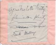 Agnes Nicholls Harty, soprano, Hamilton Harty, conductor, Frank Mullings, tenor