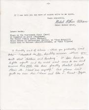 Long Typed Letter Signed ('Mabel Esther Allan') by the children's writer