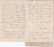 Autograph Letter Signed ('George W. Cox') from the historian Sir George William