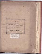 Catalogue of the Valuable Collection of Coins and Medals