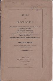 Notes et Notices sur l'Expédition scientifique des Anglais au pic de Ténériffe