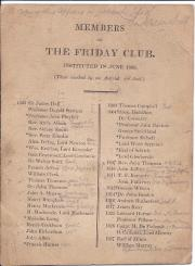 Members of the Friday Club