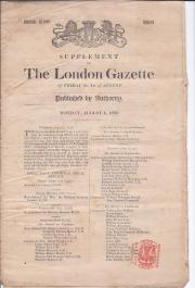 The London Gazette, 1856; the Crimean War; the Legion of Honour