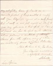 Autograph Letter Signed ('Melville') from Robert Dundas, 2nd Viscount Melville