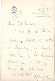 "Autograph Note Signed ""F D Lugard"", colonial administrator,"