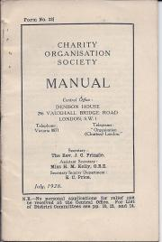 Printed pamphlet containing detailed lists of charity organisations