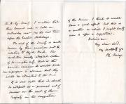 Autograph Letter Signed Ph. Pusey to Lord Granville