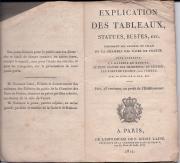 Explication des Tableaux, Statues, Bustes, etc.