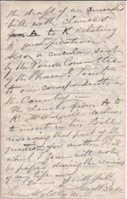 Autograph Letter Signed from '<James?> Bell' of Hastings