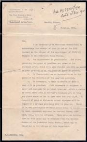 Typed Letter Signed from Sir Charles Prestwood Lucas