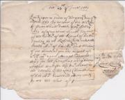 Manuscript receipt for £1000 from Lawrence Squibb