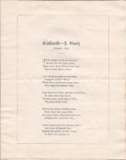 [Printed poem.] Castlemilk - A Sketch. | November 1867.