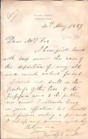 Autograph Letter Signed Joseph Lister, surgeon,