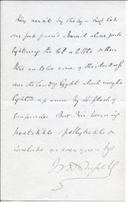 Autograph Letter Signed ('W H Russell') from the journalist W. H. Russell