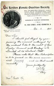 Autograph Letter Signed by the Society's secretary