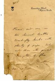 John Richard Brinsley Norton, Baron Grantley, Letter