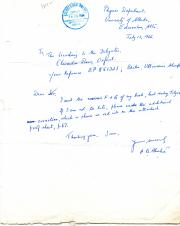 A.B. Bhatia, Indian Physicist, Autograph Note Signed