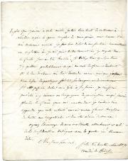 Autograph Letter Signed, Amédée de Willot [un comte et général de la Révolution