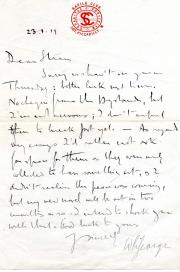 Autograph Letter Signed ('W L George') ,  novelist