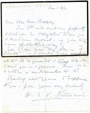 "Autograph Note Signed ""H.E.V. Stannard"", novelist"