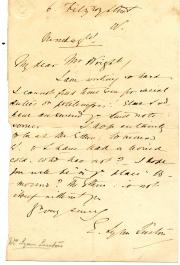 "Autograph Note Signed ""E. Lynn Linton"", novelist"