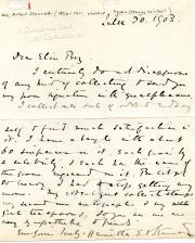 Autograph Letter Signed Henrietta E.V. Stannard, novelist