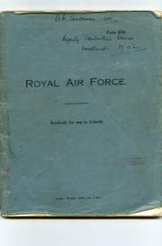 [RAF] Autograph Manuscript Notes for 'Deputy Controller's Course