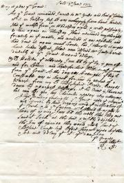 Autograph Letter Signed R. Bromley to the Duke of Hamilton [Minstrel's Gallery]