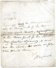Autograph Letter Signed ('Burghersh') from Lord Burghersh