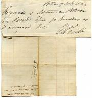 Manuscript Receipt Signed, Charles Chubb, locksmith and ship's ironmonger
