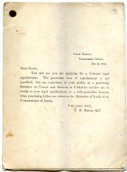 Sir Stephen Herbert Gatty, Collection of eight printed testimonials