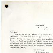 Sir Stephen Herbert Gatty, Collection of ten printed testimonials