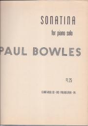 Sonatina. For piano solo. Paul Bowles.