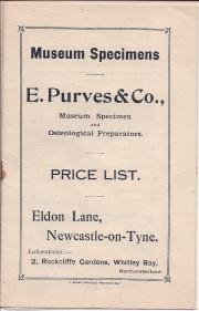 Price list of specimen preparations]