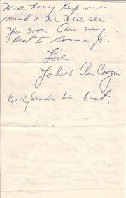 ALS signed by Hollywood actor Jackie Coogan