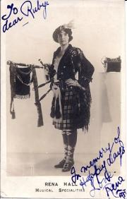 Rena Hall ('Musical Specialities'), Signed photograph