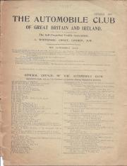 Automobile Club of Great Britain and Ireland, list of members, 1901