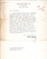 Typed Letter Signed by Nicolas Bentley
