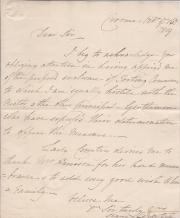 Autograph Letter Signed by George William Coventry