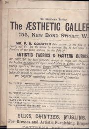 The Aesthetic Gallery, 55 New Bond Street (F. B. Goodyer, proprietor)